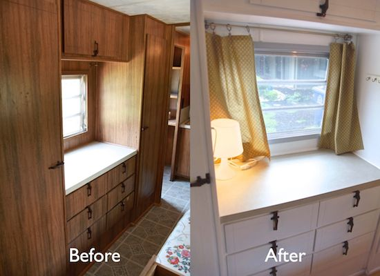 The Noshery | Vintage Camper turned Glamper – DIY Renovation | http://thenoshery.com: