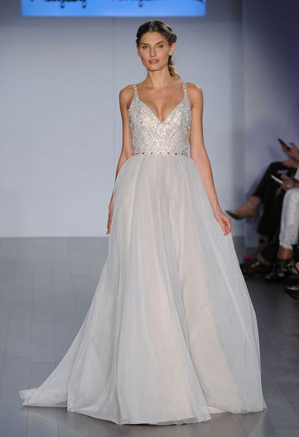 Hayley Paige Gown With Embellished Bodice The Wedding Scoop Spotlight Sparkly Dresses