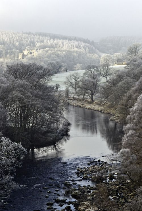 winter, Wharfedale, Yorkshire Dales Rivers Trust, England | flickr (image dimensions changed by another pinner, URL is correct)