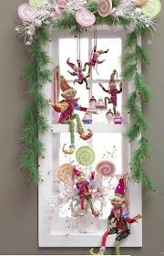 Raz Elf decorations. You can get similar elves from Michaels might be less $$ not sure.