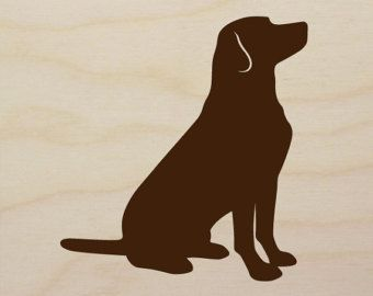 yellow lab silhouette | Labrador Retriever Art Block (versi on 2) - Hand-Cut Dog Silhouette on ...