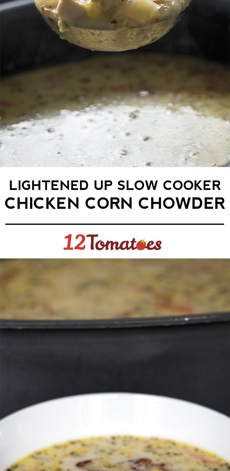 Lightened Up Slow Cooker Chicken Corn Soup