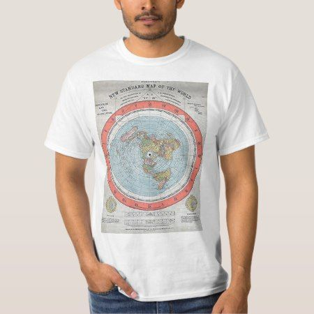 "Antique ""AE"" flat Earth map 1 T-Shirt Rare old ""standard map of the World"" . Clearly displaying the earth as flat. #flatearth #FlatEarth"