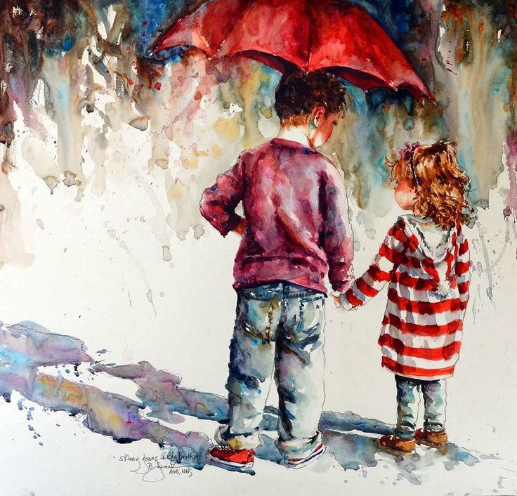 umbrellas.quenalbertini: Red umbrella by Bev Jozwiak | Artodyssey