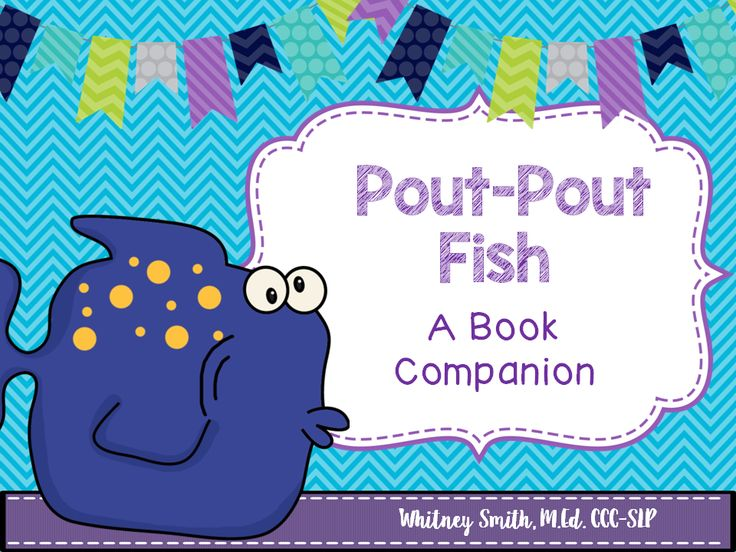 The pout pout fish book companion packet book and fish for Pout pout fish books