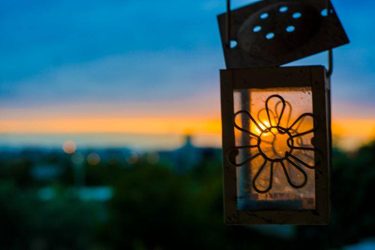 Sunset - Sunset through the glass