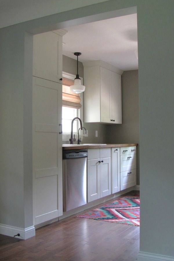9′ x 10′ galley kitchen reno with Ikea cabinets, cost: ~$2,600