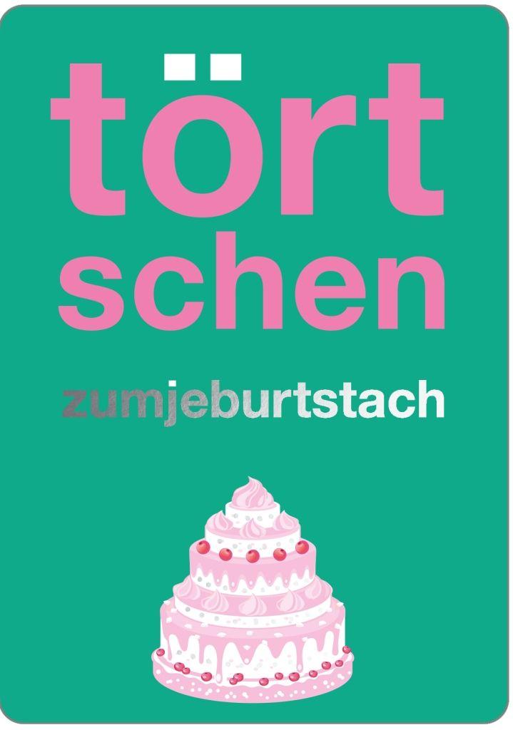 Doppelkarte Tortschen Zumjeburtstach Kolsche Klaaf