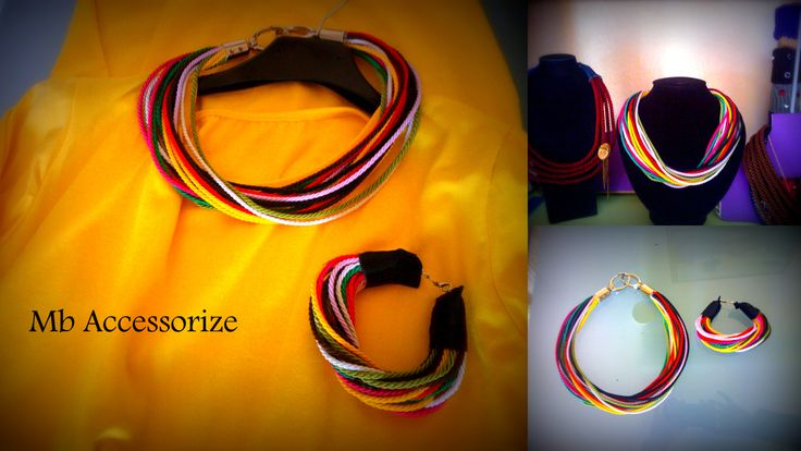 Rope Multicolor necklace and bracialet