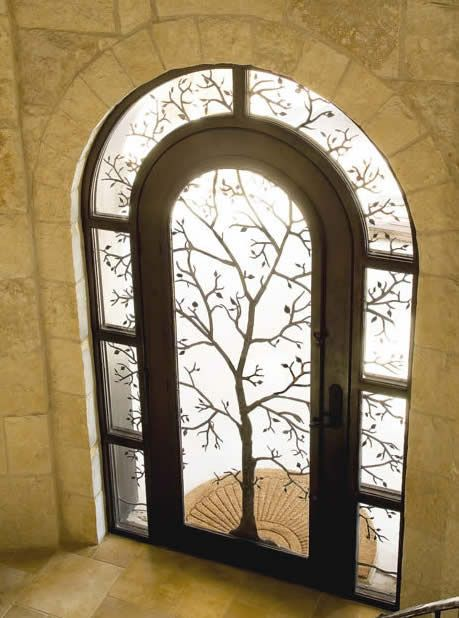 What if we did something like this on the reception hall windows to make silhouettes?