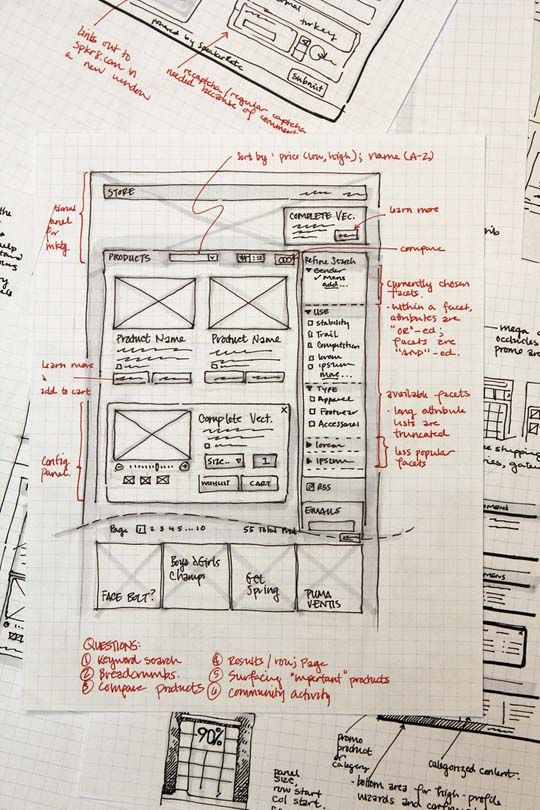 33 Great Examples of Web Design Sketches