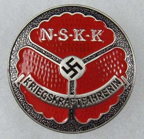 39: WW2 GERMAN NAZI NSKK MOTORCYCLE KOPS BADGE - PINBA : Lot 39