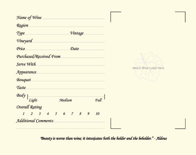 Log Book Sample Wine Drinks Planner Organization Tasting Craft Fairs Notebooks