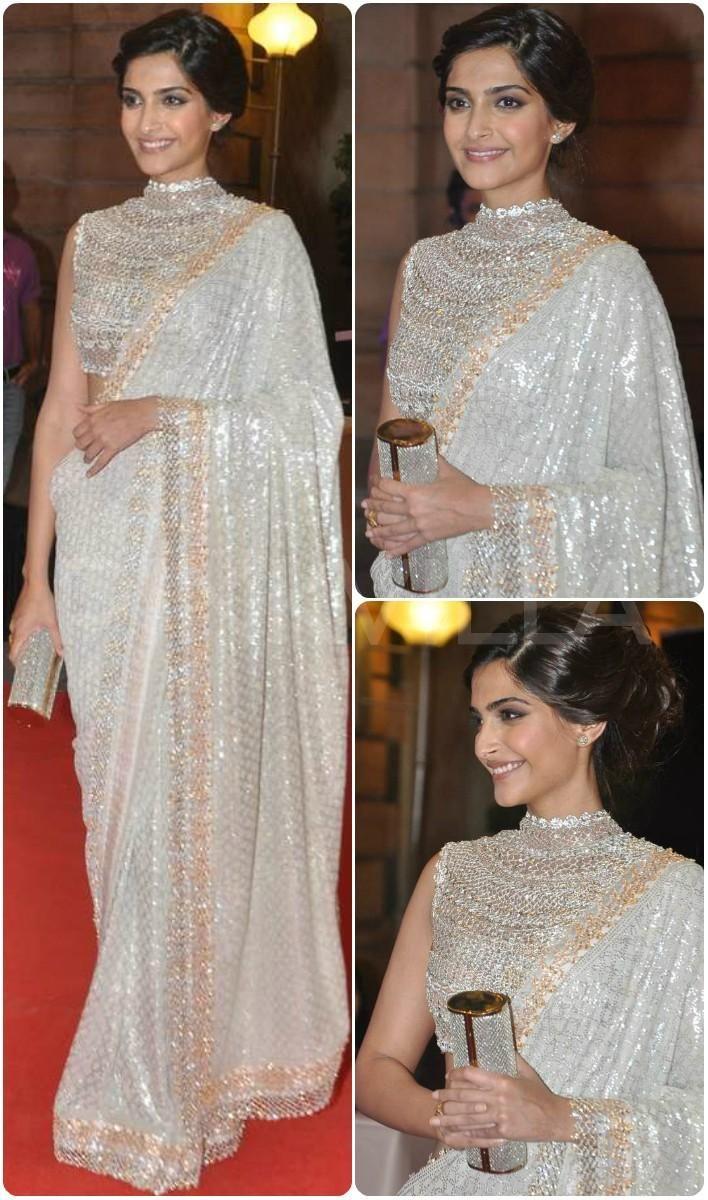 Sonam Kapoor in Abu Sandeep at Ahana Deol's wedding