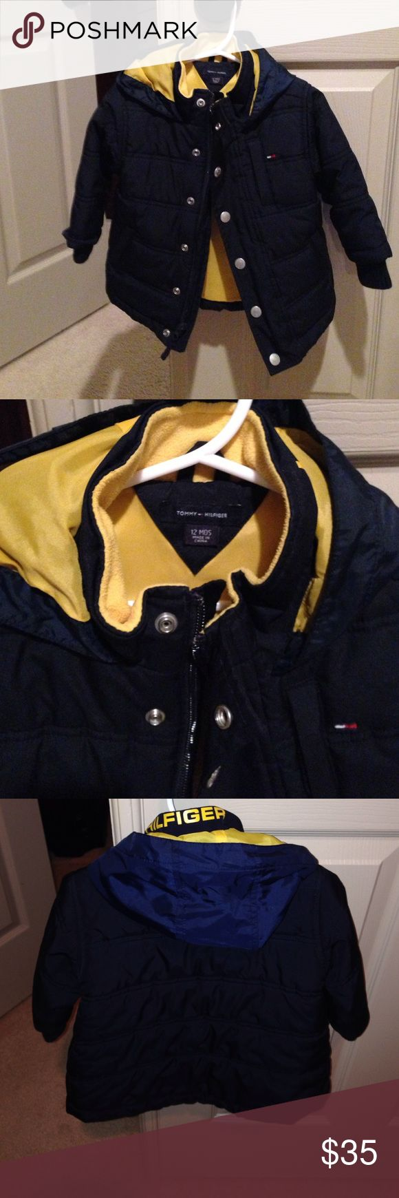 Tommy Hilfiger Boys 12mos winter coat Tommy Hilfiger Navy 12mos boy winter coat in great condition Tommy Hilfiger Jackets & Coats Puffers