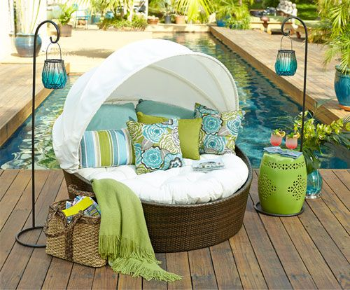 Cure cabin fever. Shop Pier 1 Outdoor Furniture: Sunasan™. WHAT!?!?