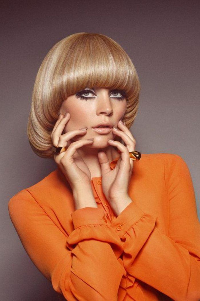 10 pagenschnitt blonde glatte haare gelockt nach innen