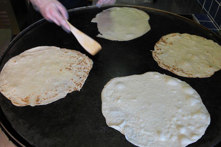 We make our own tortilla in the restaurant, not buying any from the stores full of preservatives! :)   Saját készítésű tortillával dolgozunk, nem a nagykerekben vásárolt, tartósítóval teli verziót használjuk!!!
