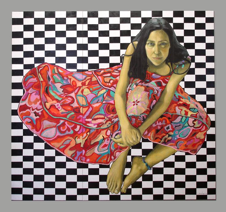 Queen on chessboard (150x140 cm), 2010