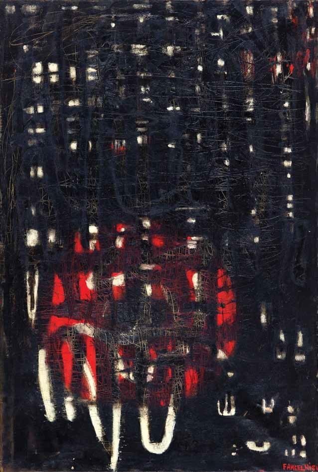 Zeid, Fahrelnissa - Forbidden Sun, 158 x 106,5 cm, oil canvas