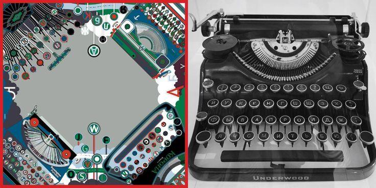 «Пишущие машинки и писатели» / Коллекция платков Olganikich