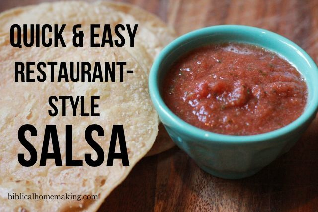 pin it   Did I ever tell you that I LOVE homemade salsa? {if you follow along over here , then probably yes!}. I'm not a fan of the jar ki...