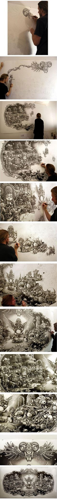 art drawing...this guy is stupid