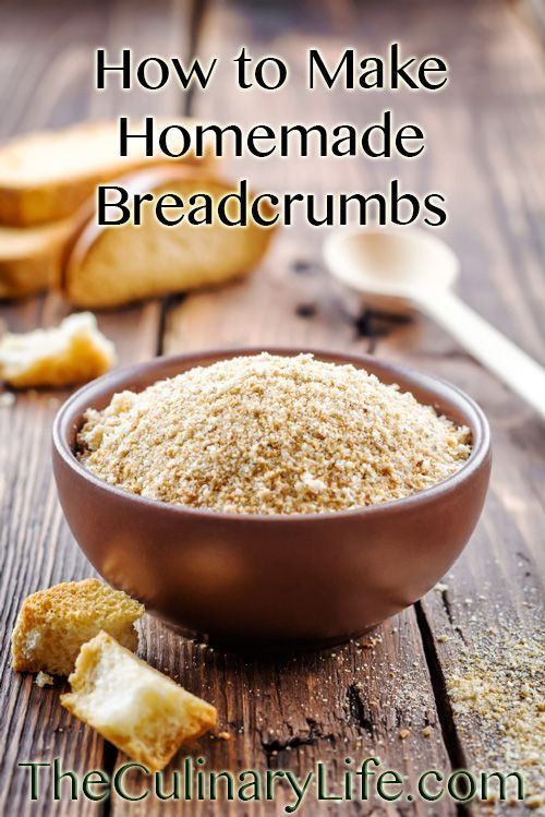 Learning how to make homemade breadcrumbs is easy and a great reminder that fresh = flavor. The process requires only old bread and a little forethought!  https://www.theculinarylife.com/2014/make-homemade-breadcrumbs/