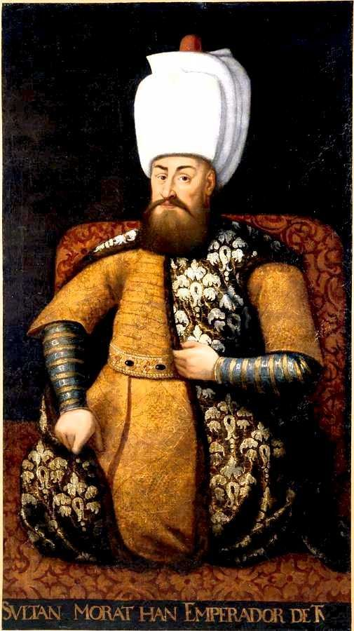 "Portrait of Sultan Murad III who  ""was said to have fathered over a hundred children."" Chapter 87"