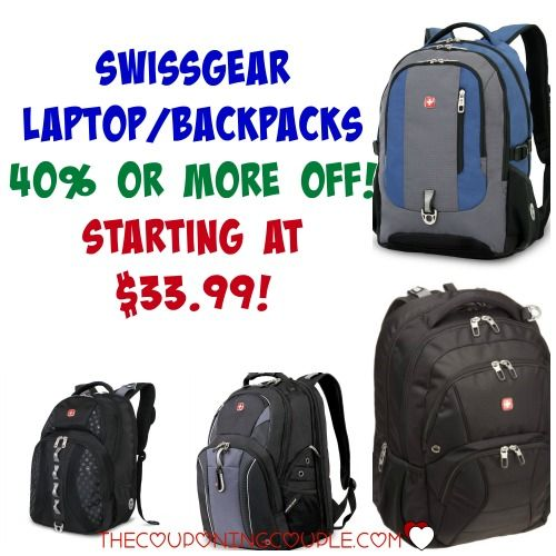 TODAY ONLY!! Save 40% or MORE on Swissgear Laptop Backpacks! Starting at $33.99! Don't let this deal pass you by!  Click the link below to get all of the details ► http://www.thecouponingcouple.com/40-off-swissgear-laptop-backpacks/  #Coupons #Couponing #CouponCommunity  Visit us at http://www.thecouponingcouple.com for more great posts!