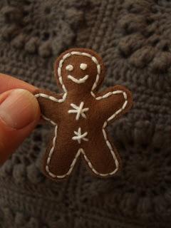 Little felt gingerbread man