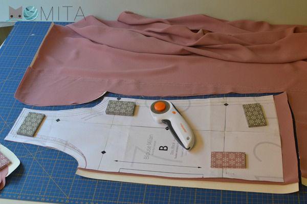 Momita - Truco para cortar y coser telas finas.