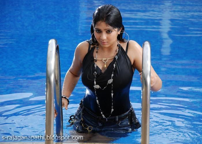 swimming wet dress in black hot and sexy wet charmi in swim suit at swimming pool love those