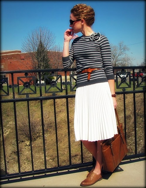 another mid-length skirt idea | To Wear