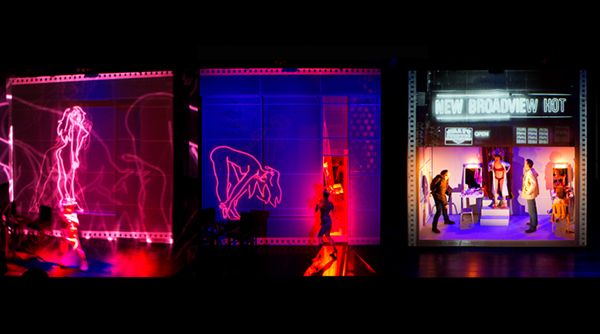 Chimerica. Harold Pinter Theatre. Set design by Es Devlin. Projection design by Finn Ross.