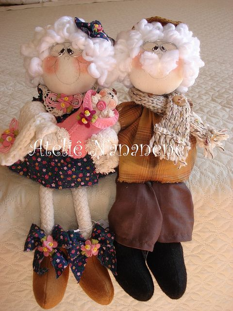 "Dolls ""abuelo y la abuela Amelia Basilio"" 