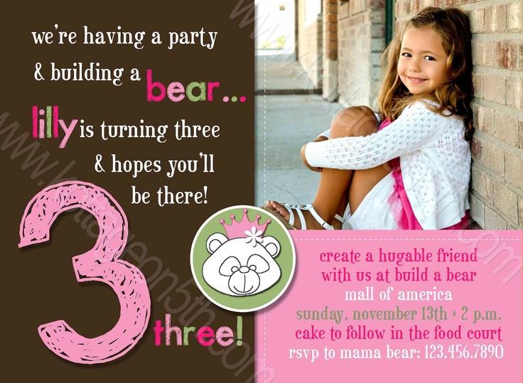 Build A Bear Any Age Printable Birthday Party