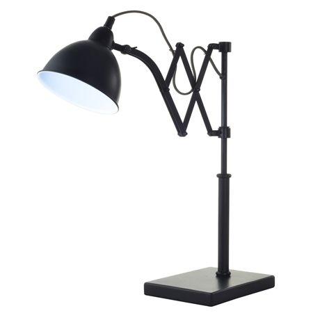 Accordion Table Lamp 52cm Black #freedomaw15 #freedomaustralia