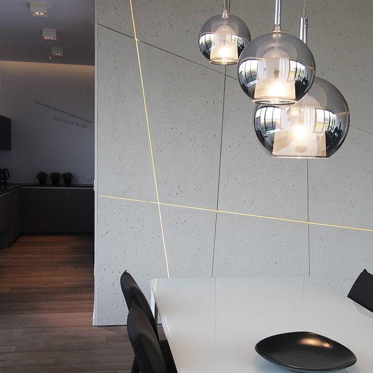 beton architektoniczny z pasami światła