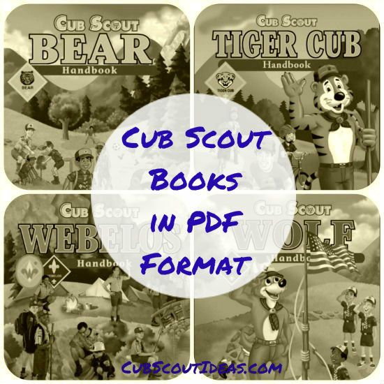 Did you know that you can get all of the Cub Scout books online in PDF format? And they're available in Spanish too? And they're free to download?