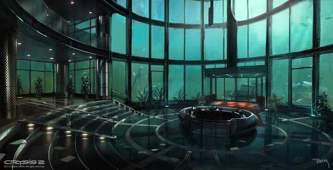 Crysis 2 - Environment Concept art by Viktor Jonsson