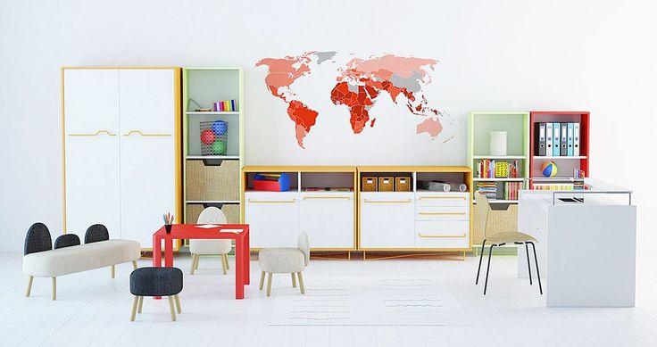 Mapa en habitaciones infantiles