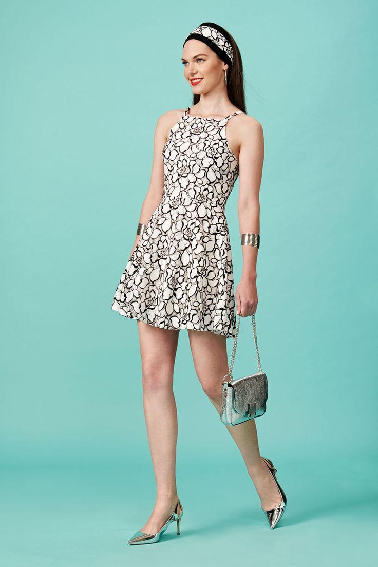 Φόρεμα κλος ασπρόμαυρο (FY916)