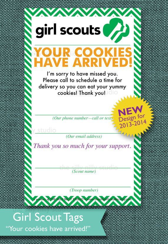 Girl Scout Cookie Sales Tags, AUTOMATIC DOWNLOAD, 3 tags in one listi ...