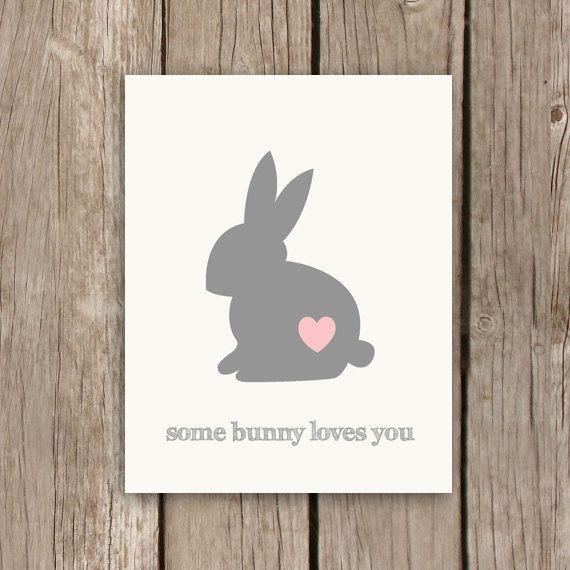 Bunny Print Nursery Art Print Nursery by MooseberryPrintShop, $18.00