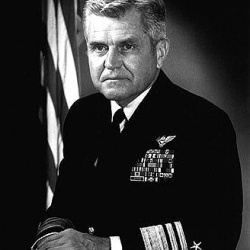 Vice Admiral James Bond Stockdale (December 23, 1923 – July 5, 2005) was one of the most highly decorated officers in the history of the United States Navy. Stockdale led aerial attacks from the carrier USSTiconderoga(CVA-14) during the 1964 Gulf of Tonkin Incident.