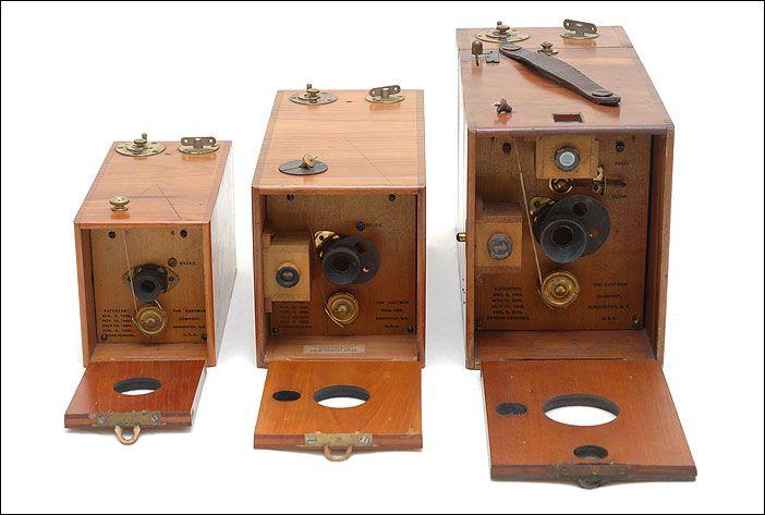 Old antique cameras: A B and C Kodak Ordinary cameras c1893 Eastman Kodak Company