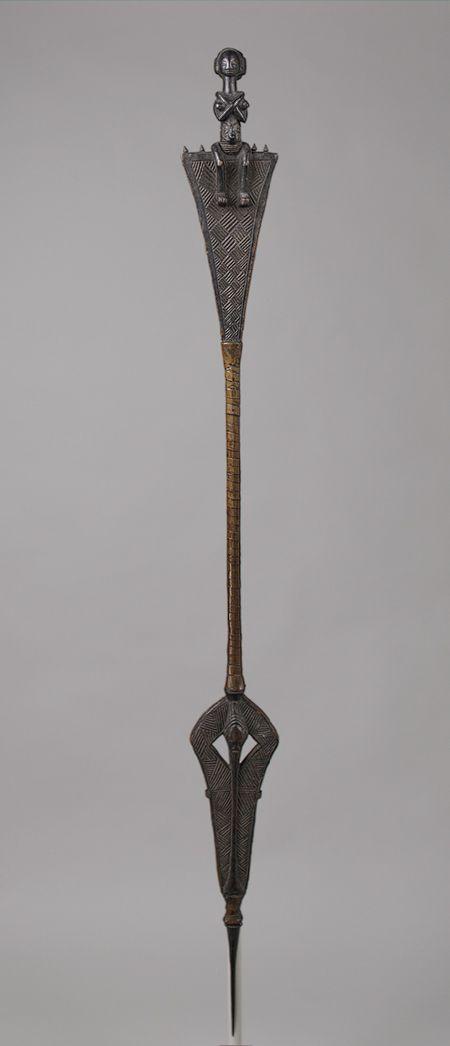 Staff: Female Figure, 19th–20th century Democratic Republic of Congo; Luba