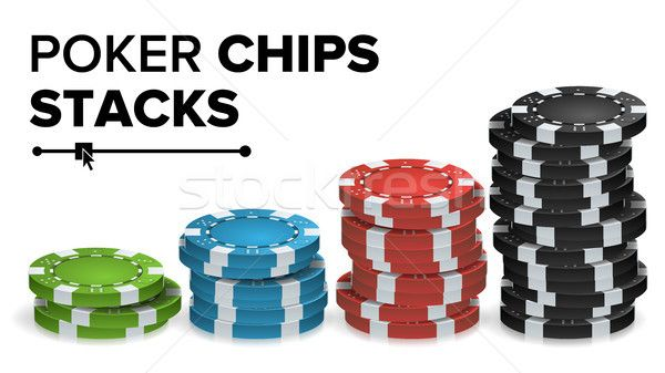 Casino Chips Stacks Vector. Realistic Colored Online Poker Game Chips Set Isolated Illustration. stock photo (c) pikepicture (#8347887) | Stockfresh