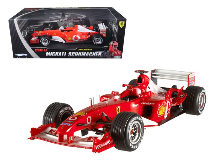 Hot wheels Ferrari F1 Formula 1 Michael Schumacher 2003 Japan Gran Prix #1Elite Edition 1/18 Diecast Car Model by Hotwheels - Brand new 1:18 scale diecast car model of Ferrari F1 Michael Schumacher 2003 Japan Gran Prix die cast car by Hotwheels. Has steerable wheels. Brand new box. Rubber tires. Detailed interior, exterior. Made of diecast with some plastic parts. Dimensions approximately L-10,W-4,H-2.5 inches.-Weight: 4. Height: 8. Width: 15. Box Weight: 4. Box Width: 15. Box Height: 8. Box…